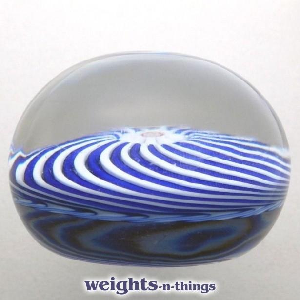 Cobalt-blue & White Swirl